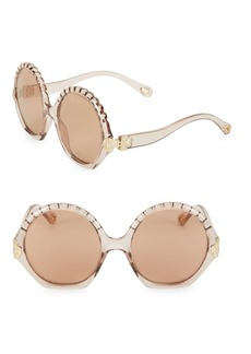 Chloé Vera 56MM Oversized Round Sunglasses