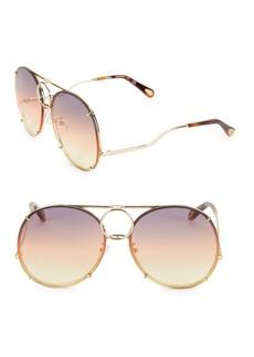 Chloé Vicky Interchangeable 61MM Aviator Sunglasses