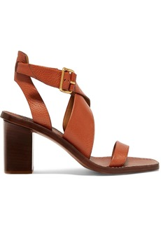 Chloé Virginia Textured-leather Sandals