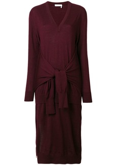Chloé waist-tied sweater dress