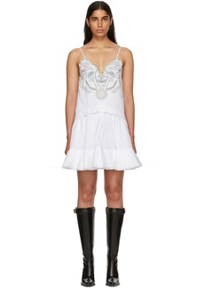 Chloé White Embroidered Detailing Tank Dress