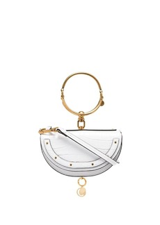Chloé white Nile mini leather bracelet bag