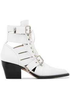 Chloé White Rylee 60 Medium Leather Boots
