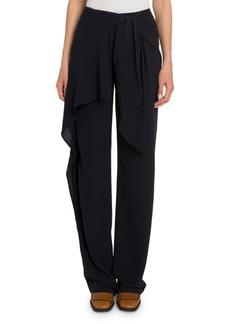 Chloé Wide-Leg Georgette Tie-Front Pants