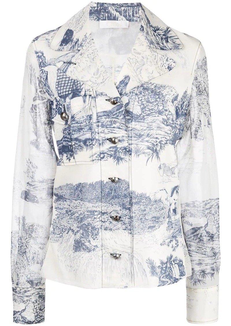 Chloé willow print shirt
