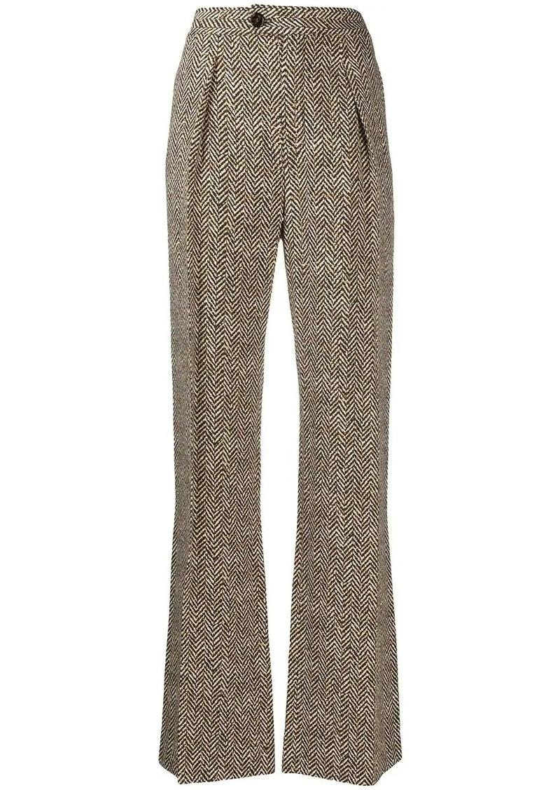 Chloé woven zig zag trousers