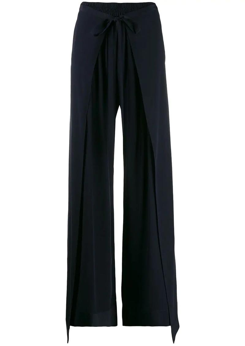Chloé wrap-effect trousers