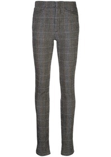 Chloé zipped cuff checked trousers