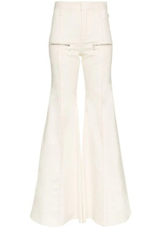 Chloé zipped flared jeans