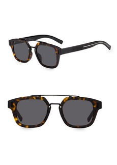 Christian Dior 49MM Tortoiseshell Square Sunglasses