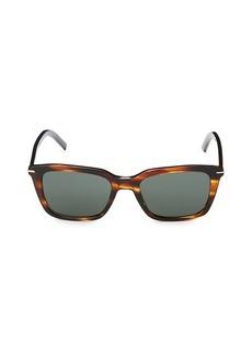 Christian Dior 51MM Faux Tortoiseshell Rectangular Sunglasses