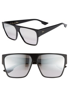 Christian Dior Dior 62mm Flat Top Square Sunglasses
