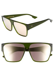 Dior 62mm Flat Top Square Sunglasses