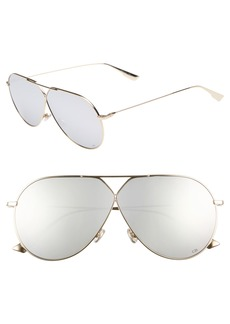 Christian Dior 65mm Aviator Sunglasses