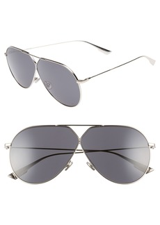 Christian Dior 65mm Aviator Sunglasses