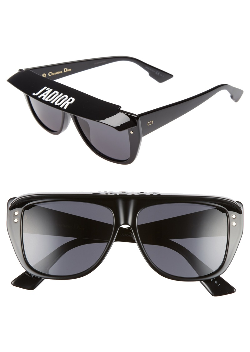 c983b95eb47 Christian Dior Dior DiorClub2S 56mm Square Sunglasses with Removable Visor