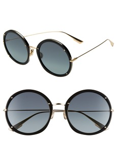Christian Dior Hypnotic 56mm Round Sunglasses