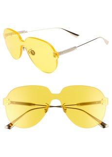 Christian Dior Quake3 149mm Rimless Pilot Shield Sunglasses