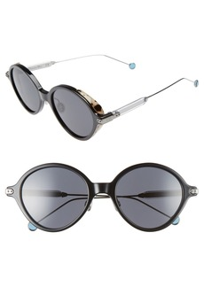 Christian Dior Dior Umbrage 52mm Round Sunglasses