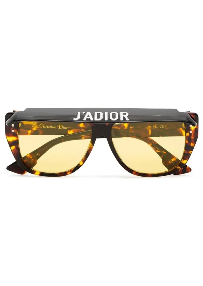 bccaeb014d621 Christian Dior Club 2 tortoiseshell visor acetate sunglasses ...