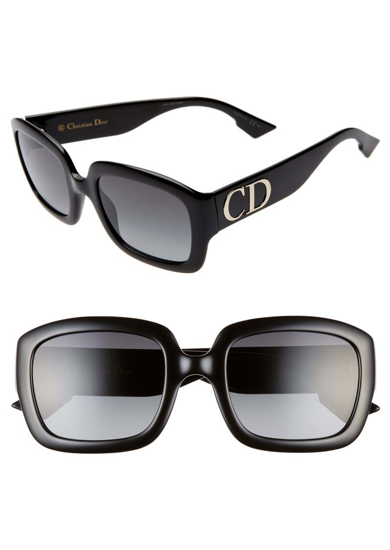 Christian Dior Dior 54mm Gradient Square Sunglasses