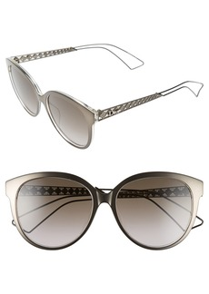 Christian Dior Dior 56mm Cat Eye Sunglasses