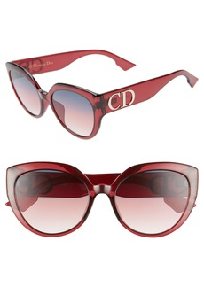 Christian Dior Dior 56mm Special Fit Cat Eye Sunglasses