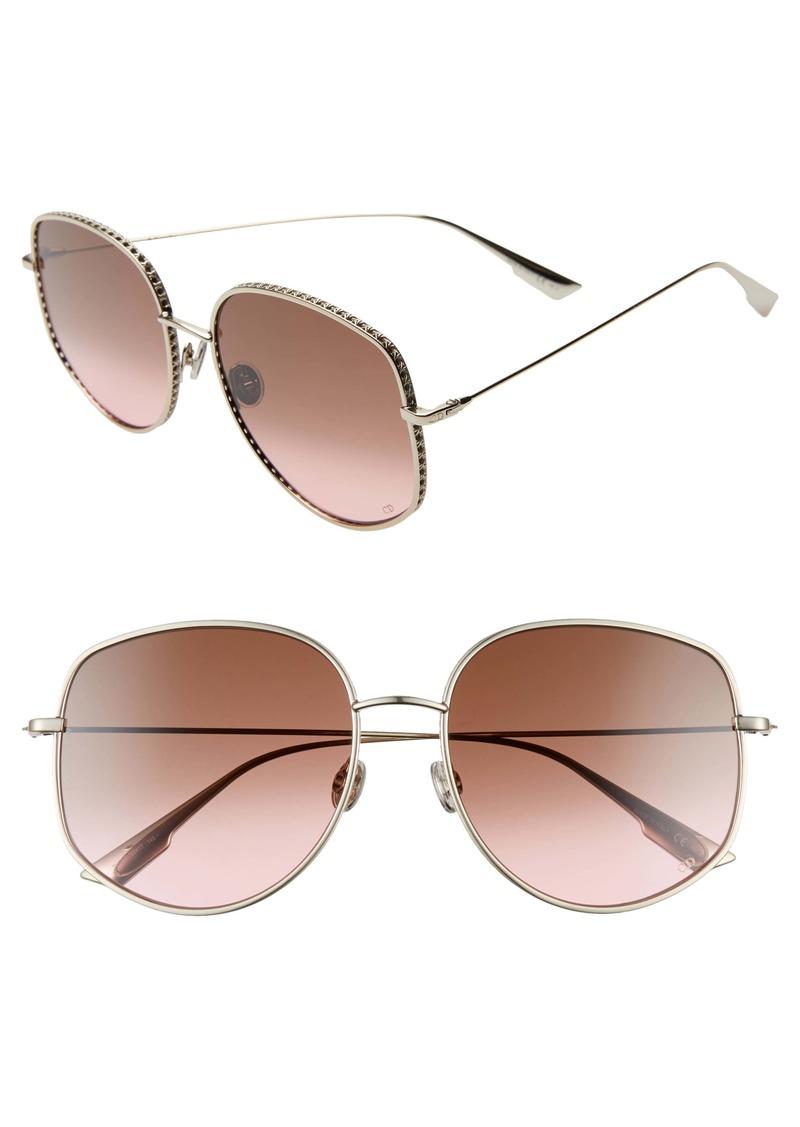 Christian Dior Dior 58mm Gradient Square Sunglasses