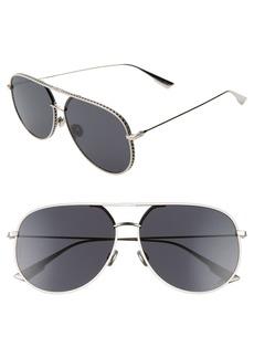 Christian Dior Dior 60mm Aviator Sunglasses