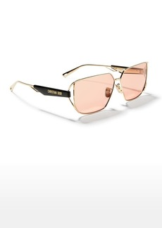 Christian Dior Dior ArchiDior 61mm Cutout Square Metal Sunglasses