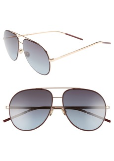Christian Dior Dior Astrals 59mm Aviator Sunglasses
