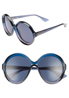Christian Dior Dior Bianca 58mm Round Sunglasses