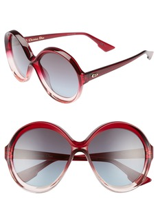 Dior Bianca 58mm Round Sunglasses
