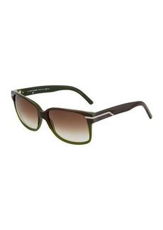 Christian Dior Dior Black Tie Plastic Rectangle Sunglasses