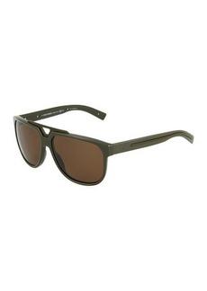 Christian Dior Dior Black Tie Plastic Square Sunglasses