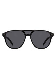 Christian Dior Dior Blacktie 56mm Aviator Sunglasses