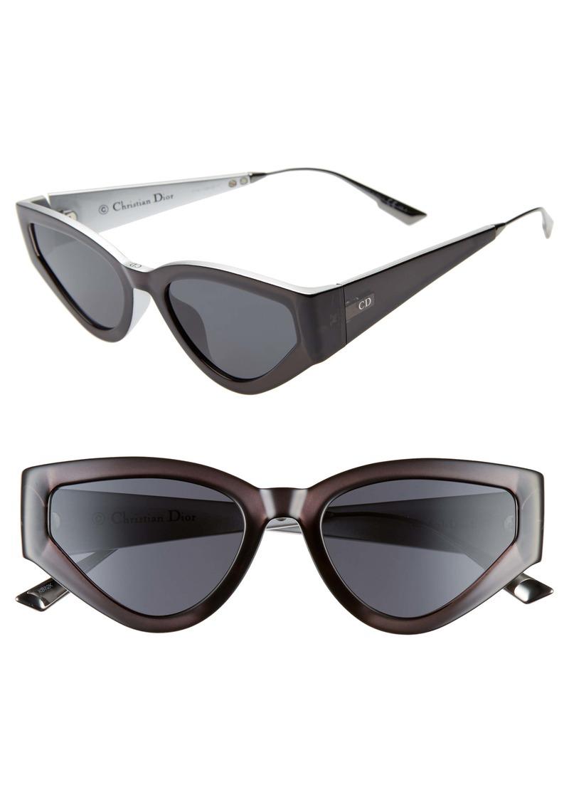 Christian Dior Dior Catstyle1 53mm Cat Eye Sunglasses