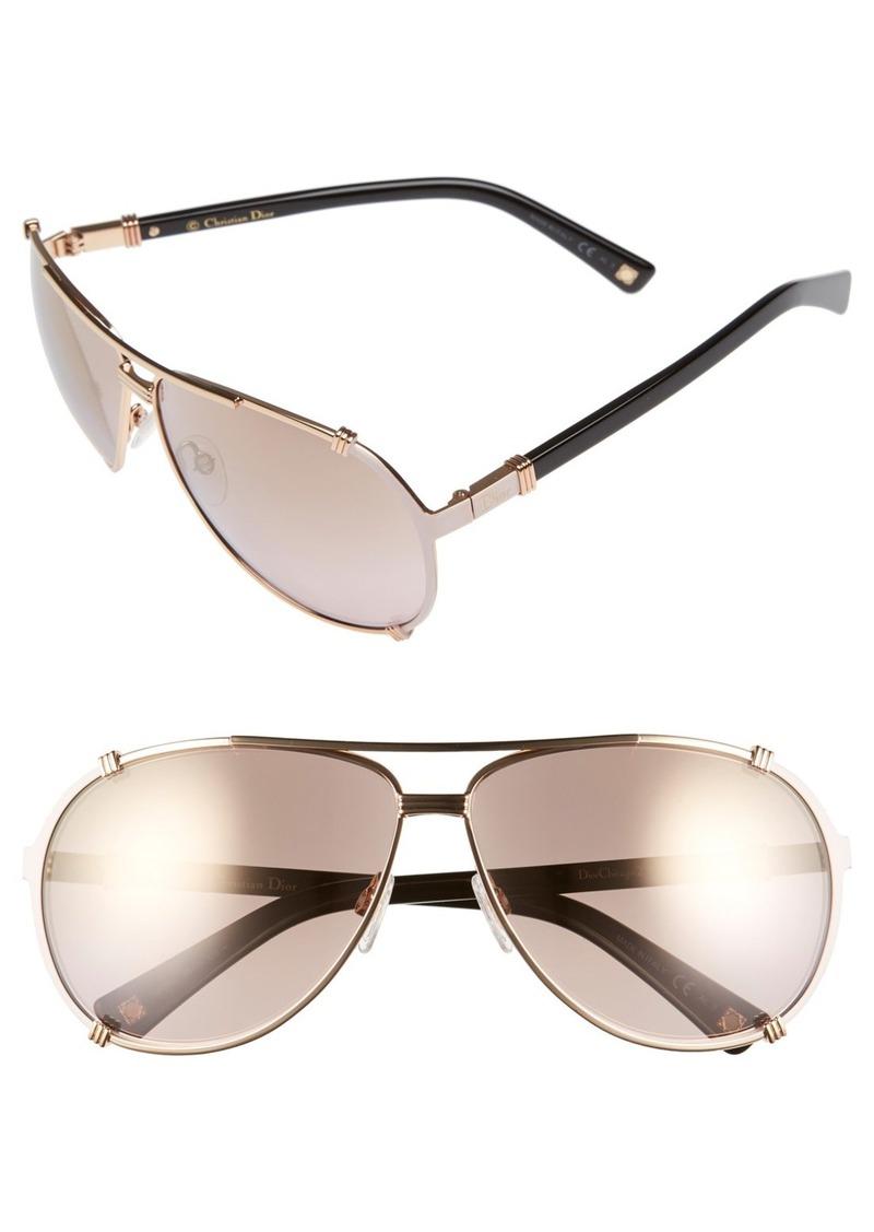 Christian Dior Dior 'Chicago' 63mm Metal Aviator Sunglasses
