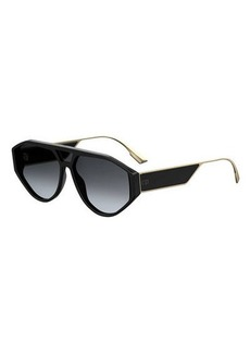 Christian Dior Dior Clan1 Oval Acetate & Metal Sunglasses