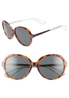 Christian Dior Dior Confident 58mm Round Sunglasses