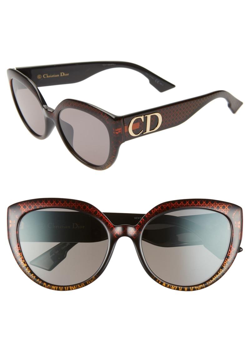Christian Dior Dior DDIORF 56mm Cat Eye Sunglasses