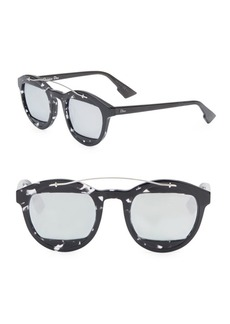 Christian Dior Dior Mania 50MM Mirrored Round Sunglasses