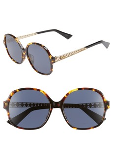 Christian Dior Dior Diorama 58mm Special Fit Round Sunglasses