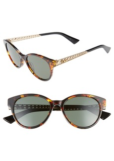 Christian Dior Dior Diorama Mini 52mm Mirrored Lens Special Fit Sunglasses