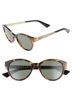 Dior Diorama Mini 52mm Mirrored Lens Special Fit Sunglasses