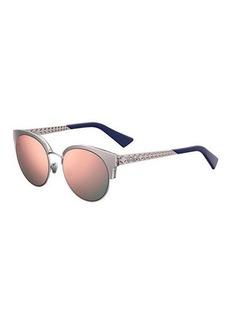 Christian Dior Dioramamini Semi-Rimless Mirrored Sunglasses