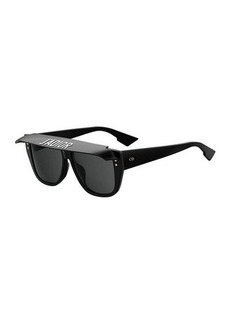 DiorClub2 Acetate Sunglasses w/ Visor Detail