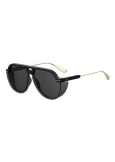 Christian Dior Dior DiorClub3 Aviator Sunglasses w/ Side Blinders