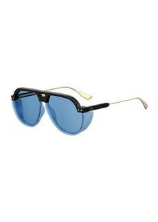 Christian Dior DiorClub3 Round Sunglasses w/ Side Blinders