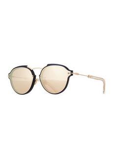 DiorEclat Round Mirrored Sunglasses